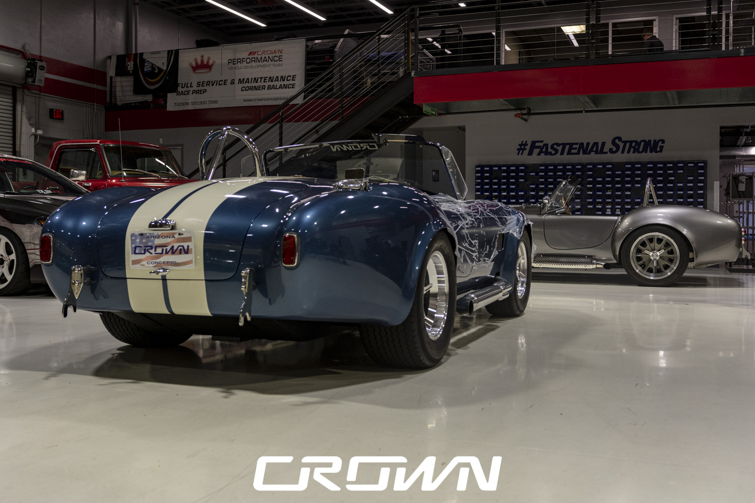 Two Shelby cobras at Crown Concepts