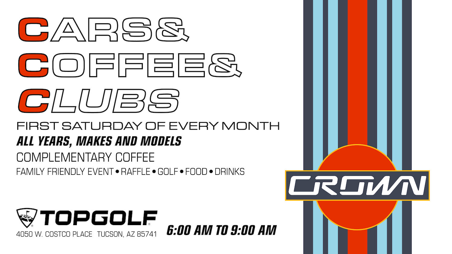 Cars & Coffee & Clubs Topgolf Tucson Arizona