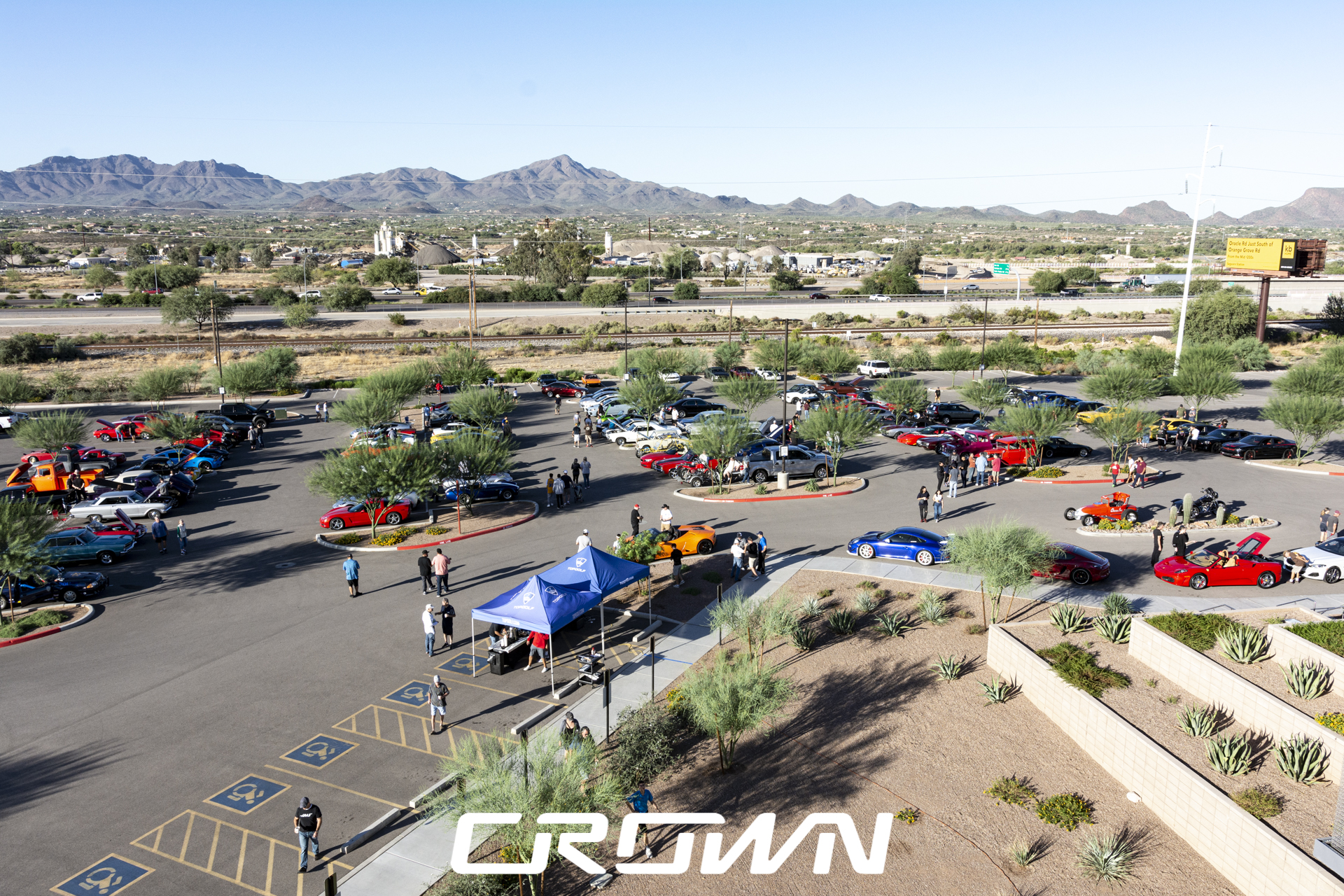 Cars and coffee and clubs at topgolf tucson