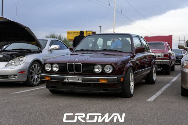 BMW e30 at cars and coffee tucson