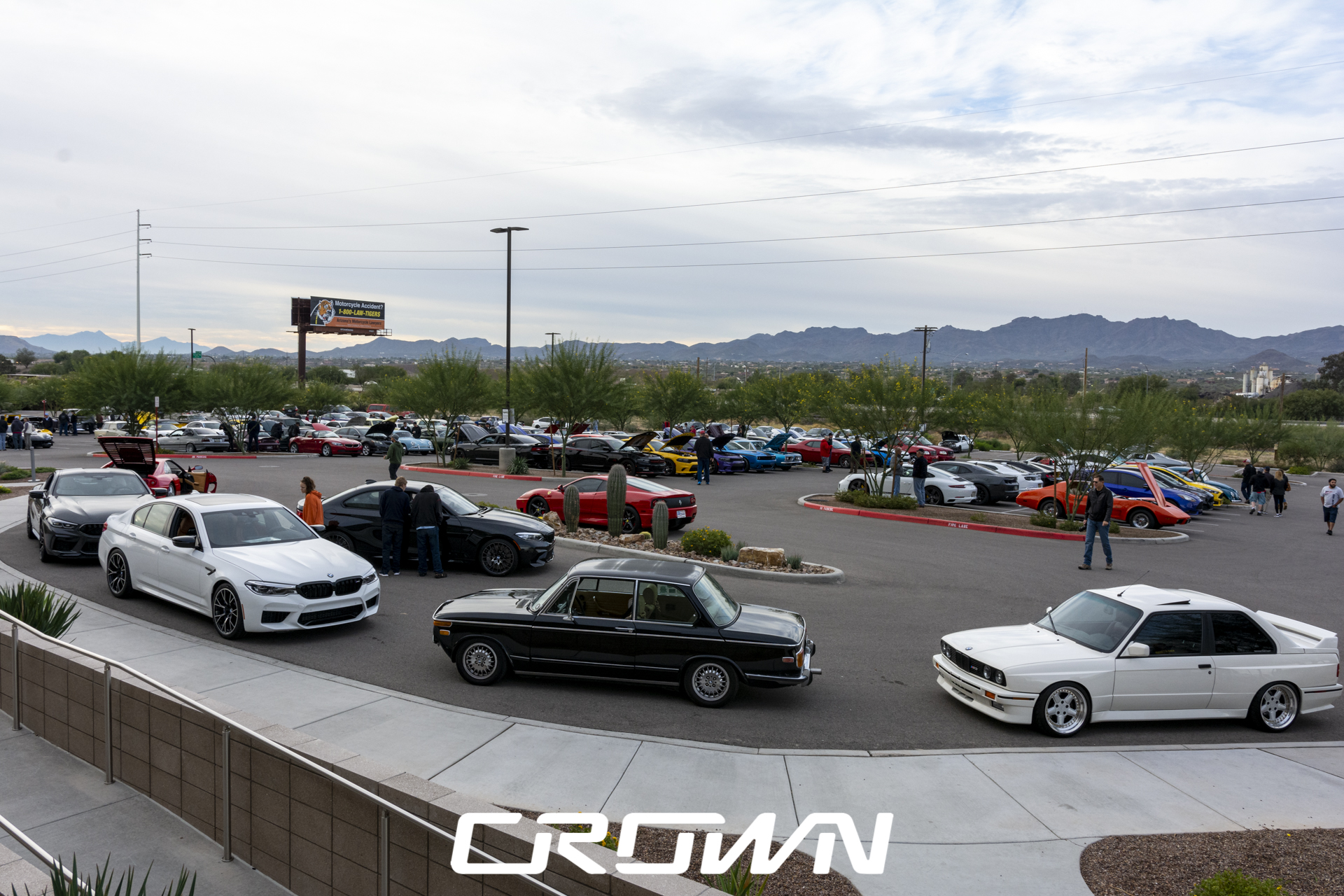 Overview of cars coffee clubs at topgolf